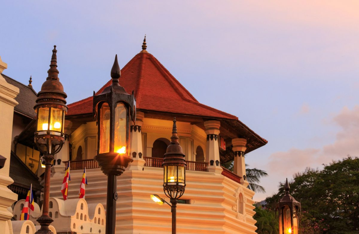Sri Lanka kandy tower of temple of tooth relic