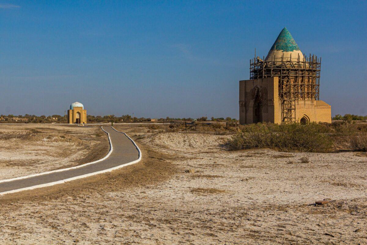 Sultan Tekesh Mausolem Konye Urgench Turkmenistan