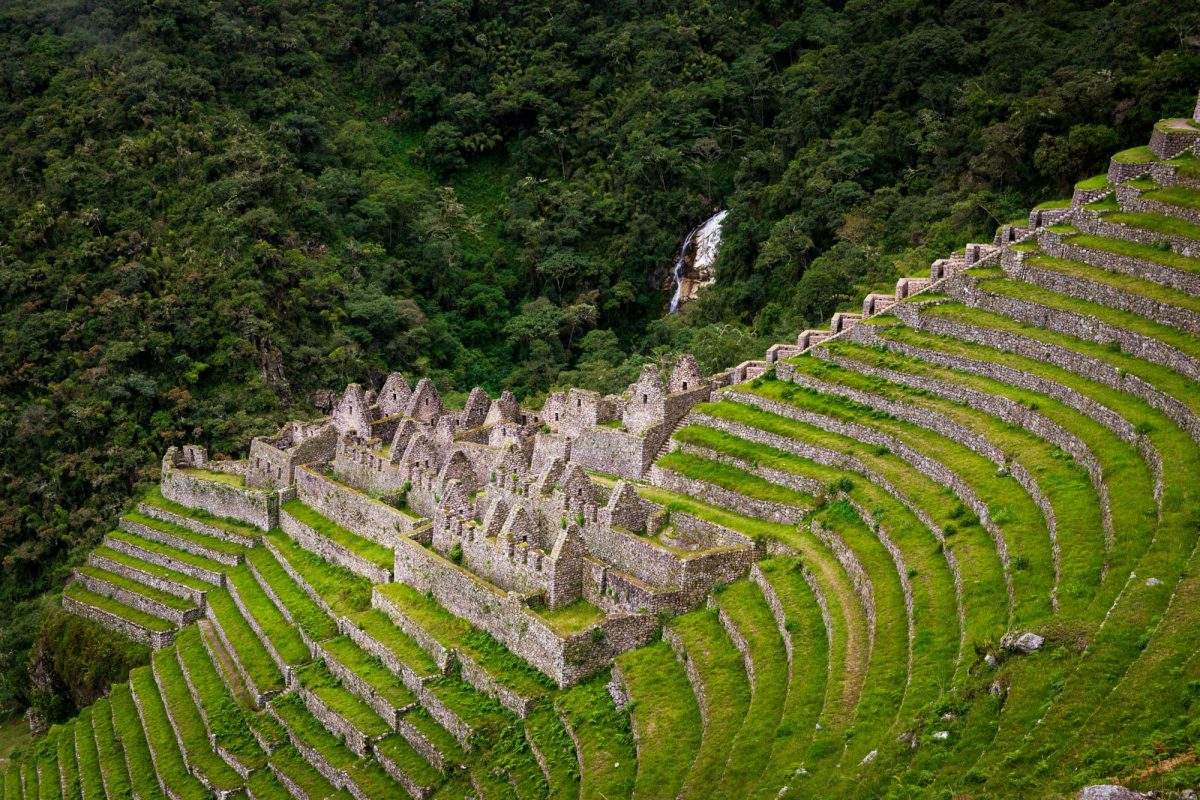 The Inca ruins of Winay Wayna peru