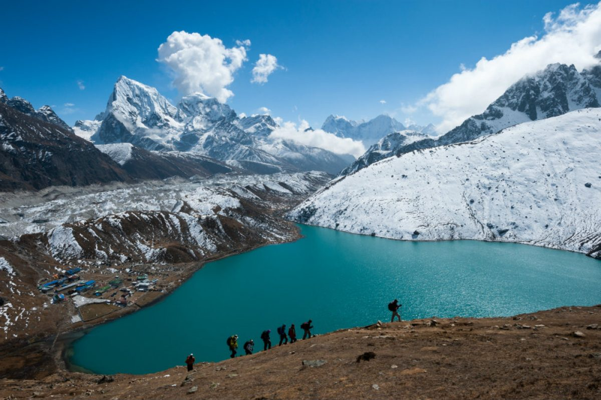 Trekking-In-Everest-Region-With-A-View-Of-Himalayas-And-Gokyo-Lake-Nepal