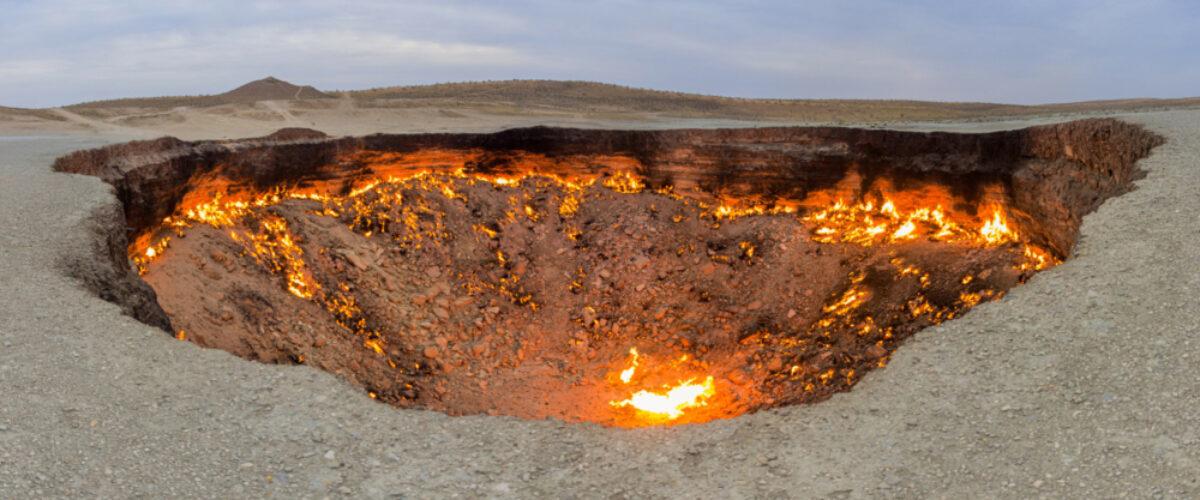 Turkmenistan Darwaza crater