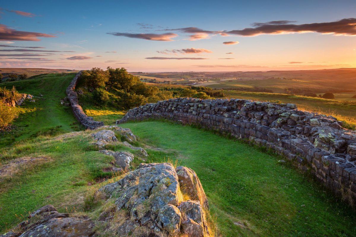 UK England hadrians wall