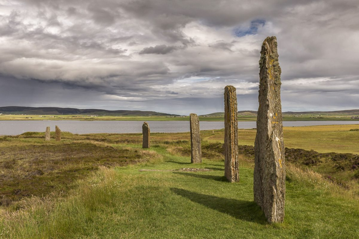 UK Ring Of Brodgar Orkney Scotland A neolithic stone circle and henge