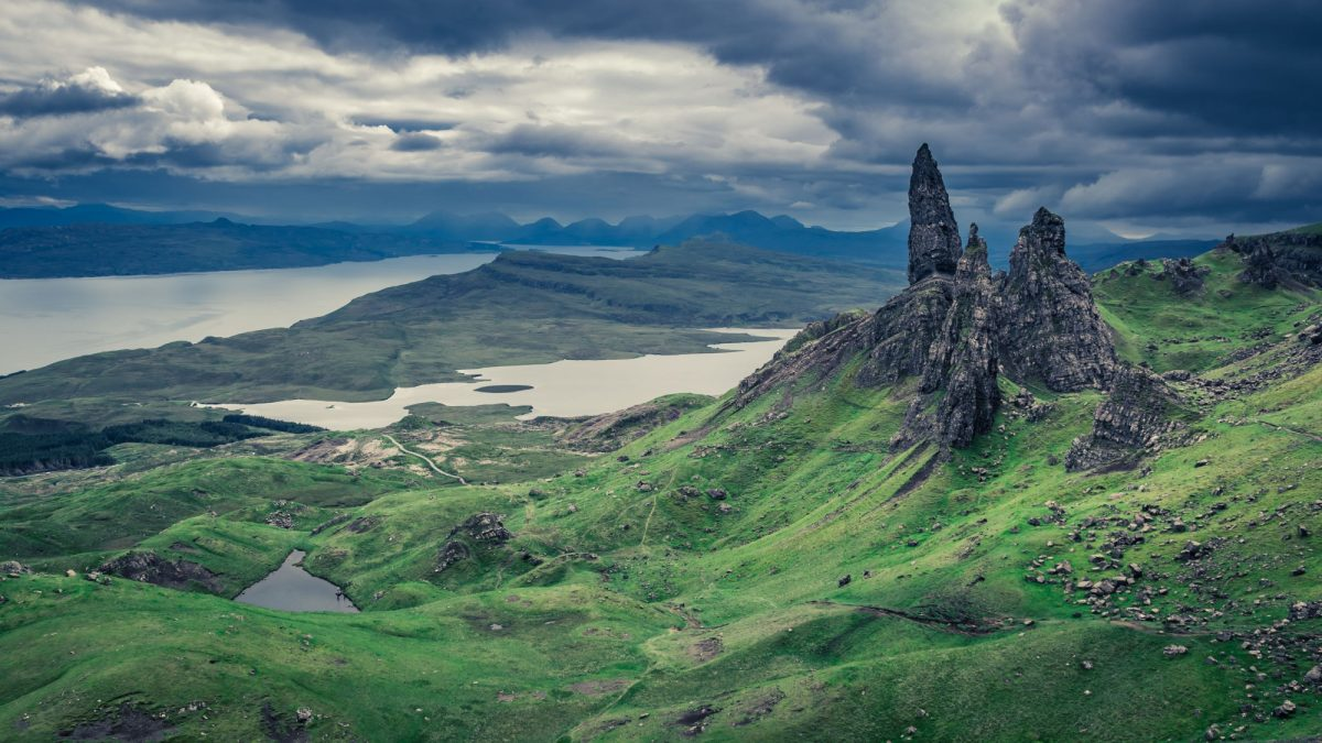 UK Scotland Skye Old Man of Storr