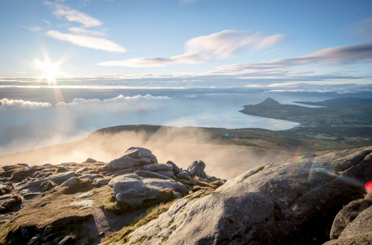 UK Scotland view of Brodick from Goatfell