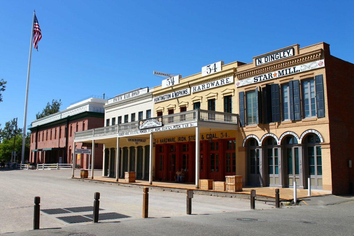 USA sacramento gold rush town