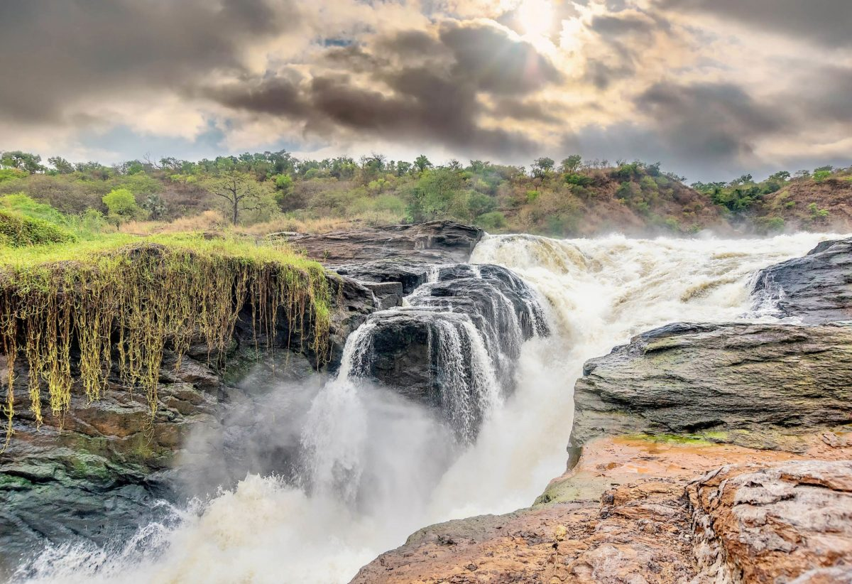 Uganda View of Murchison Falls on the Victoria Nile river National Park