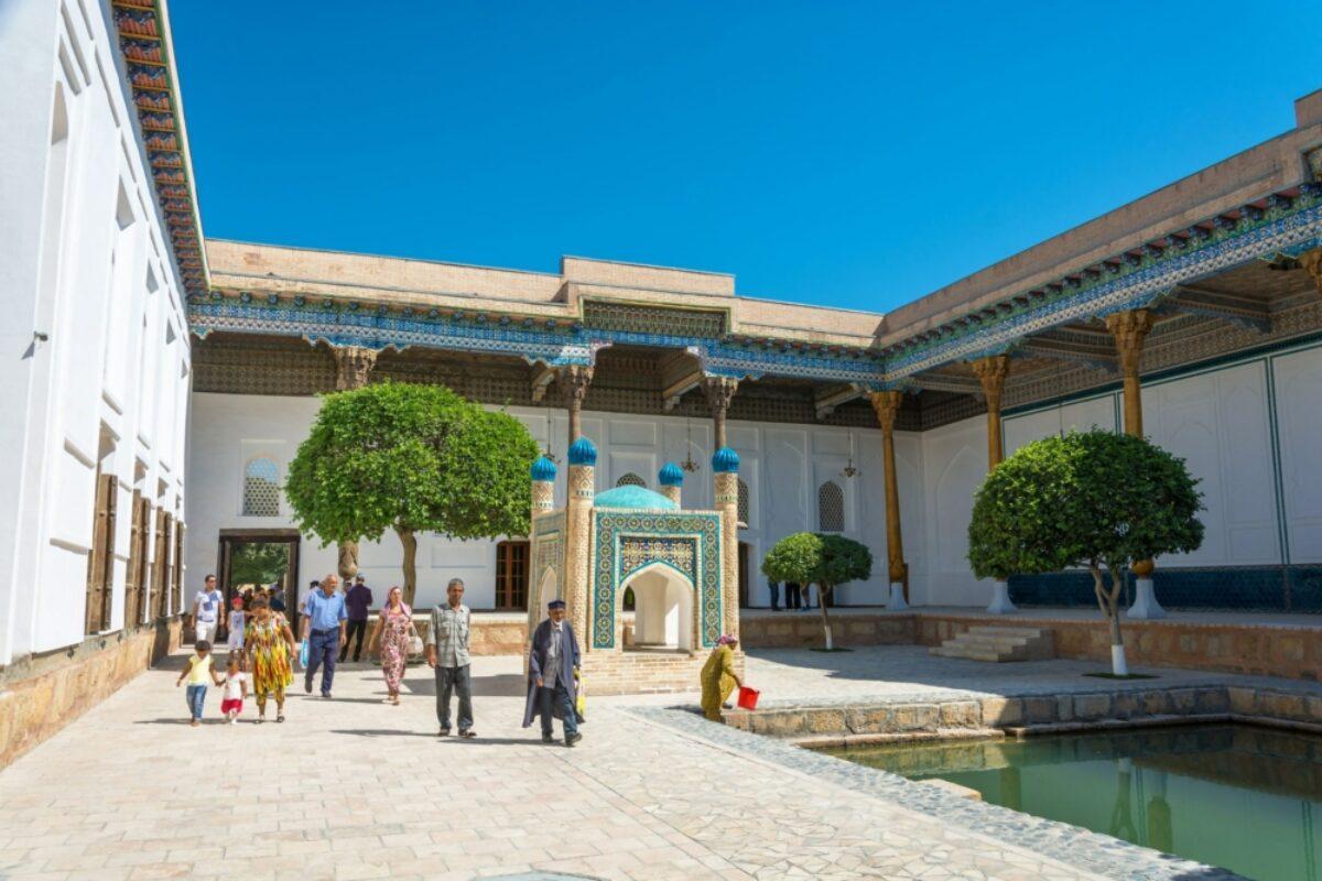 Uzbekistan Bukhara Patio memorial complex Bahuddin Naqshbandi
