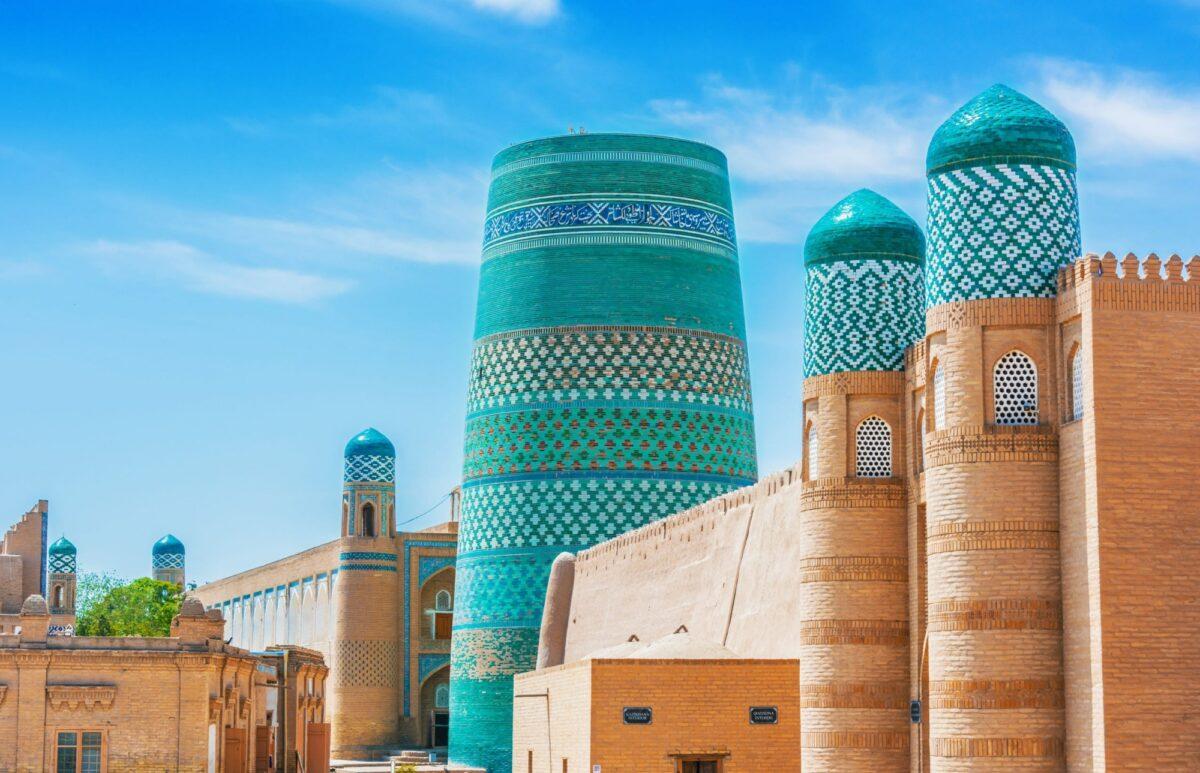 Uzbekistan Khiva Kalta Minor in walled inner town of tchan Kala