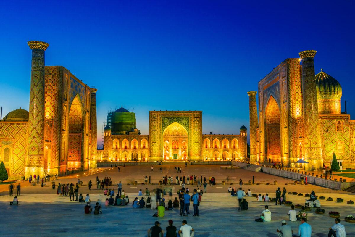 Uzbekistan SAMARKAND nighttime lowres