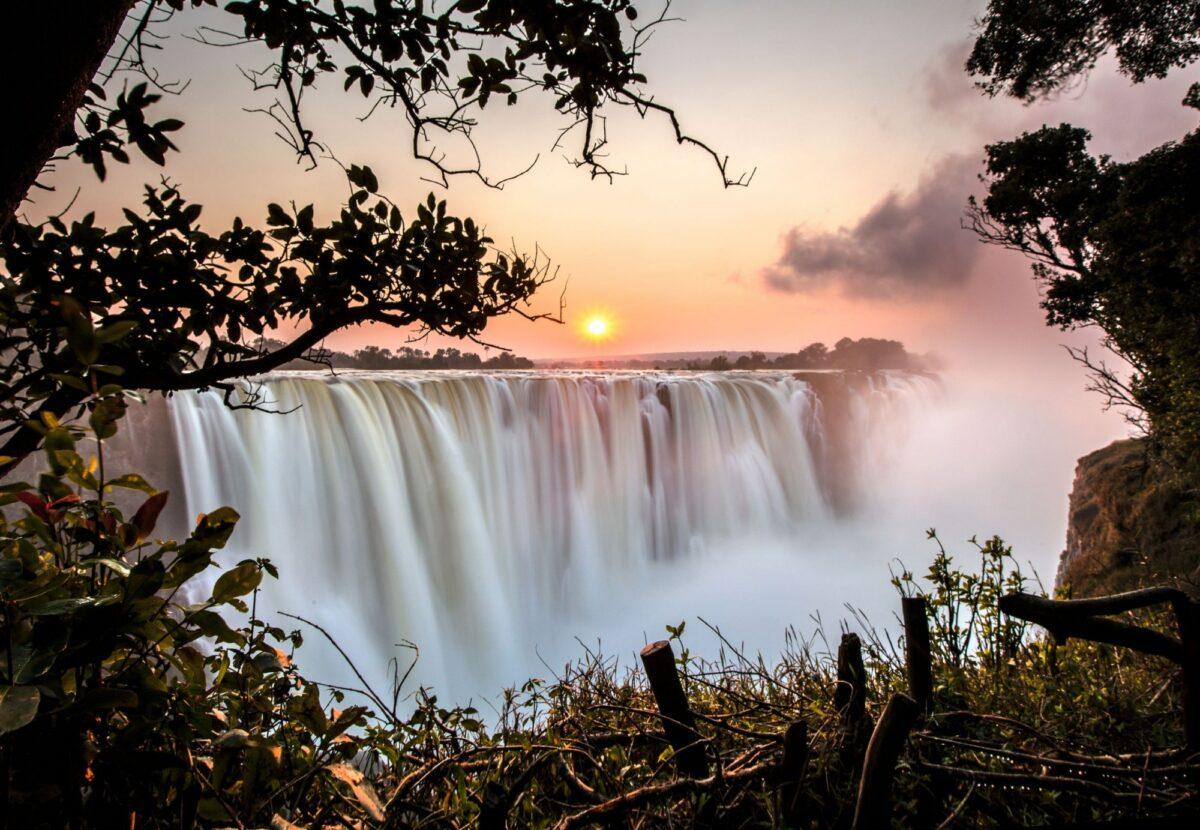 Zambia Victorial Falls sunset2
