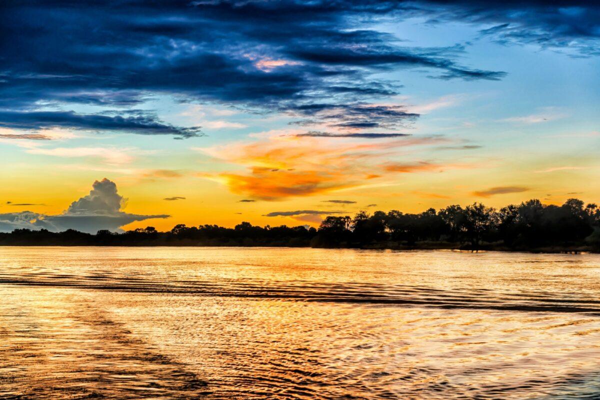 Zambia Zambezi river near Livingstone