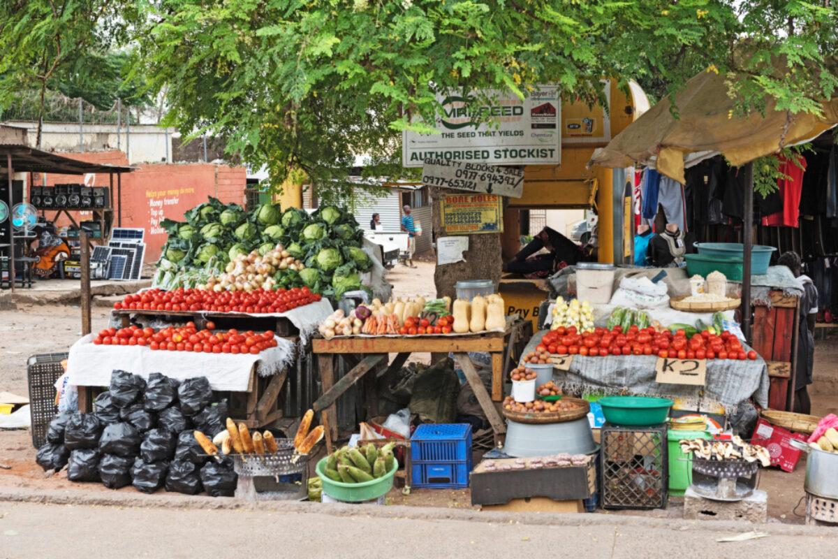 Zambia livingstone stalls