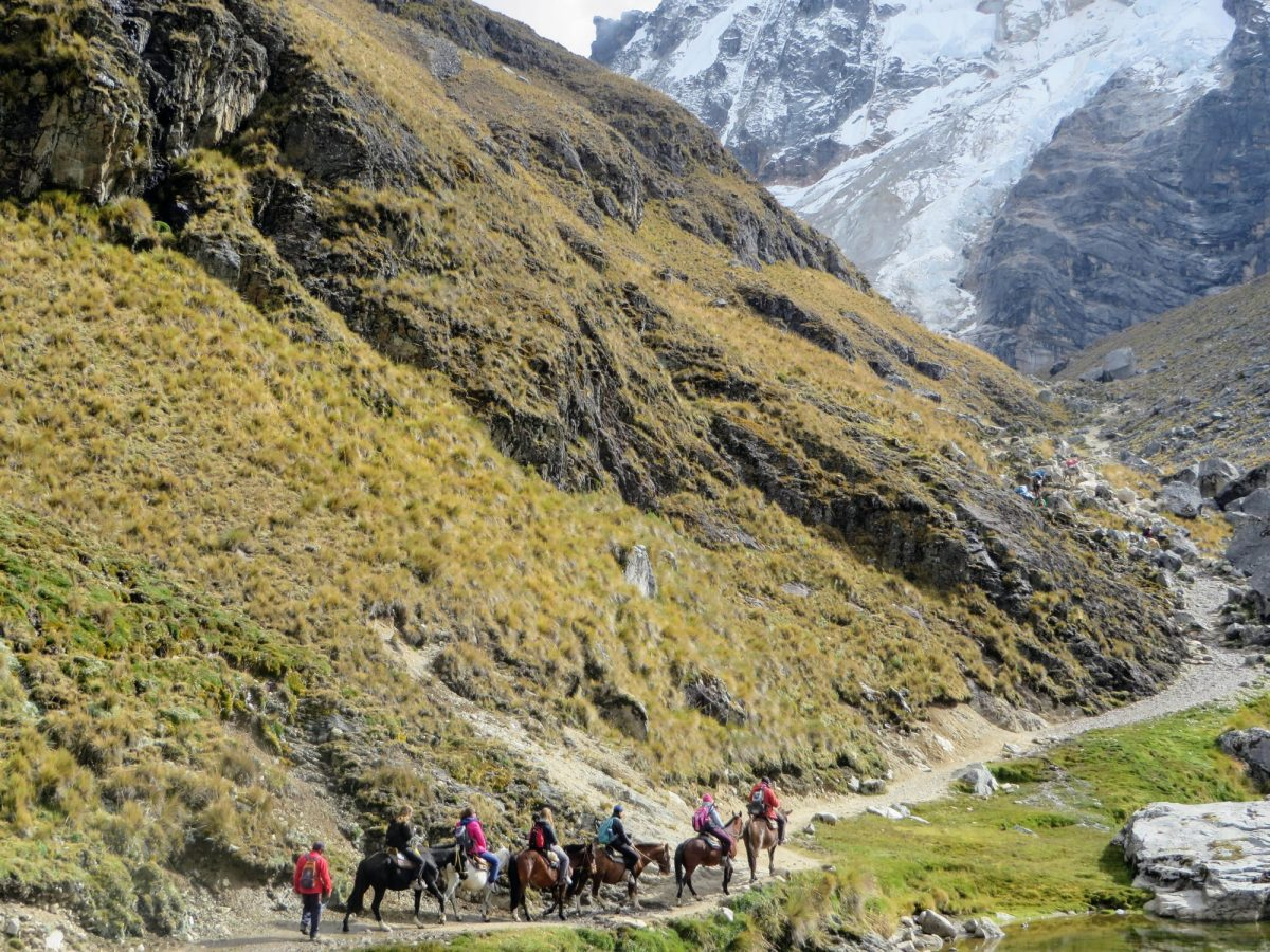Alkantay Trail towards Machu Picchu peru