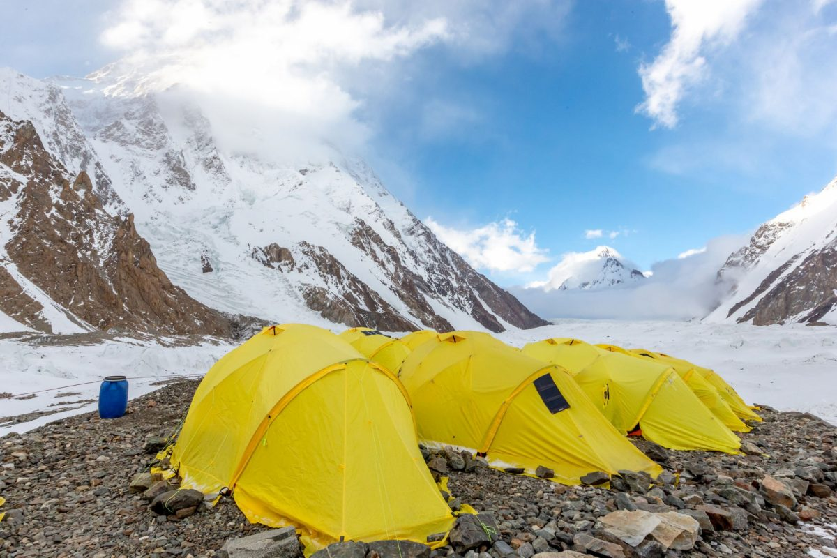 Campsite on k2 trek