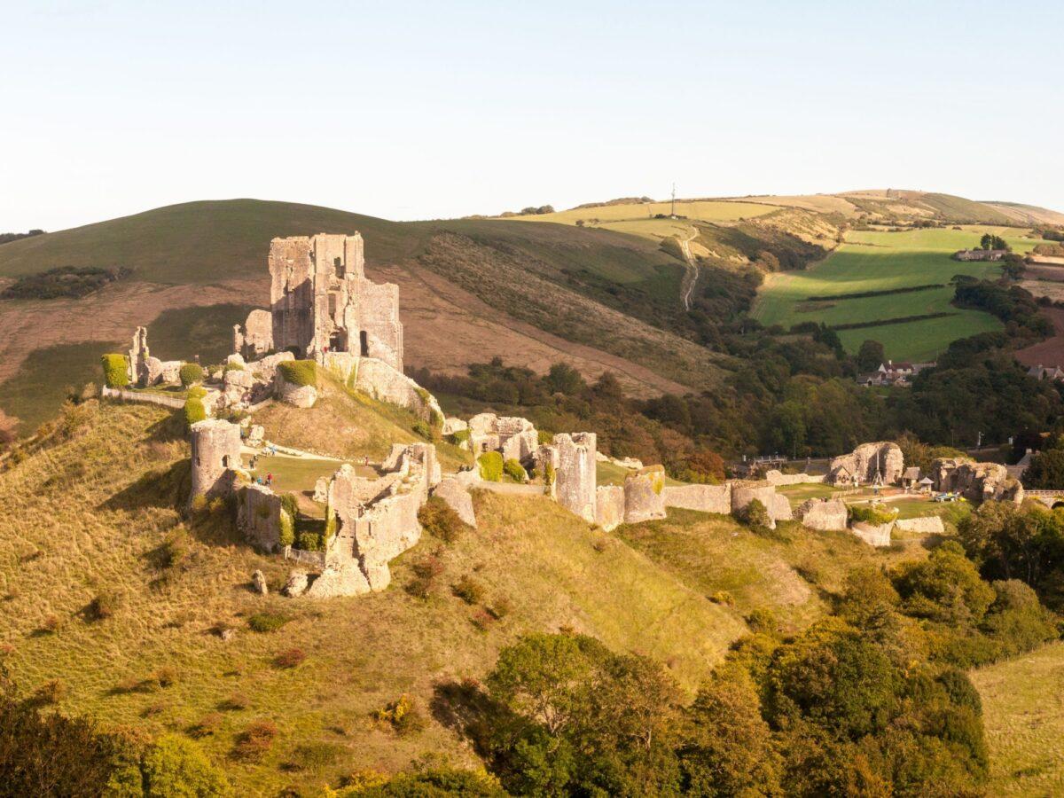 Family Corfe Castle Dorset UK