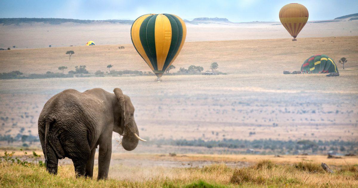 Kenya baloon safari