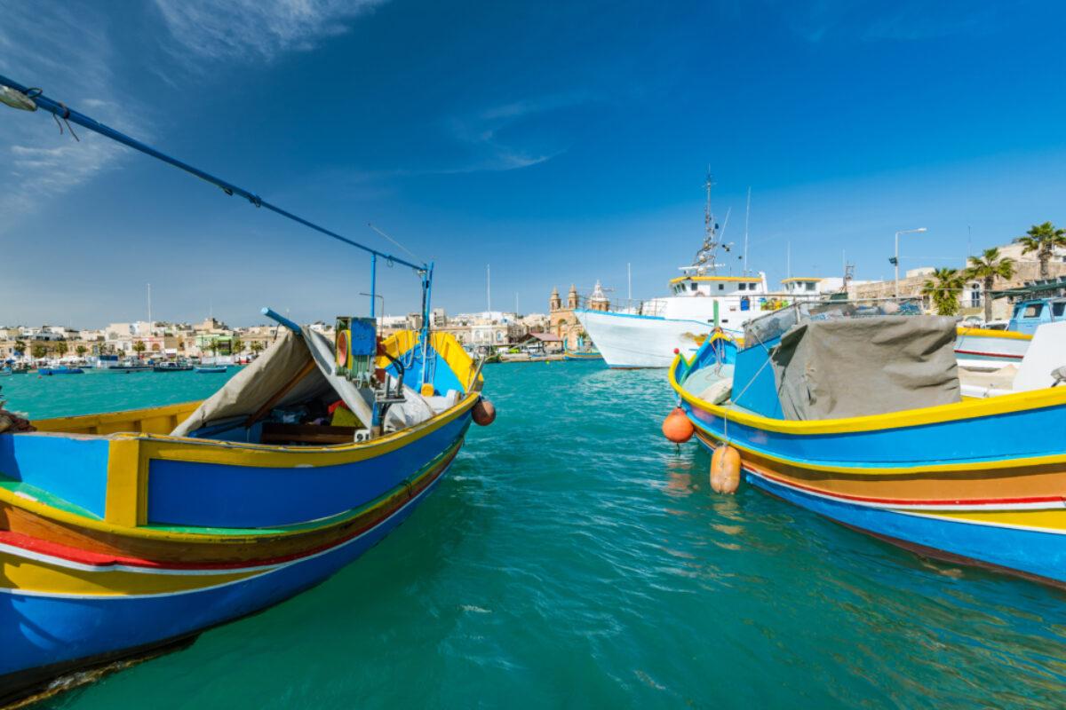 Malta Marsaxlokk fishing village