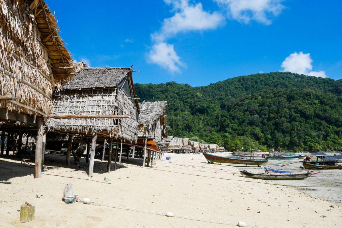 Moken village Koh Surin on the Mu Ko Surin National Park Surin Islands of Thailand
