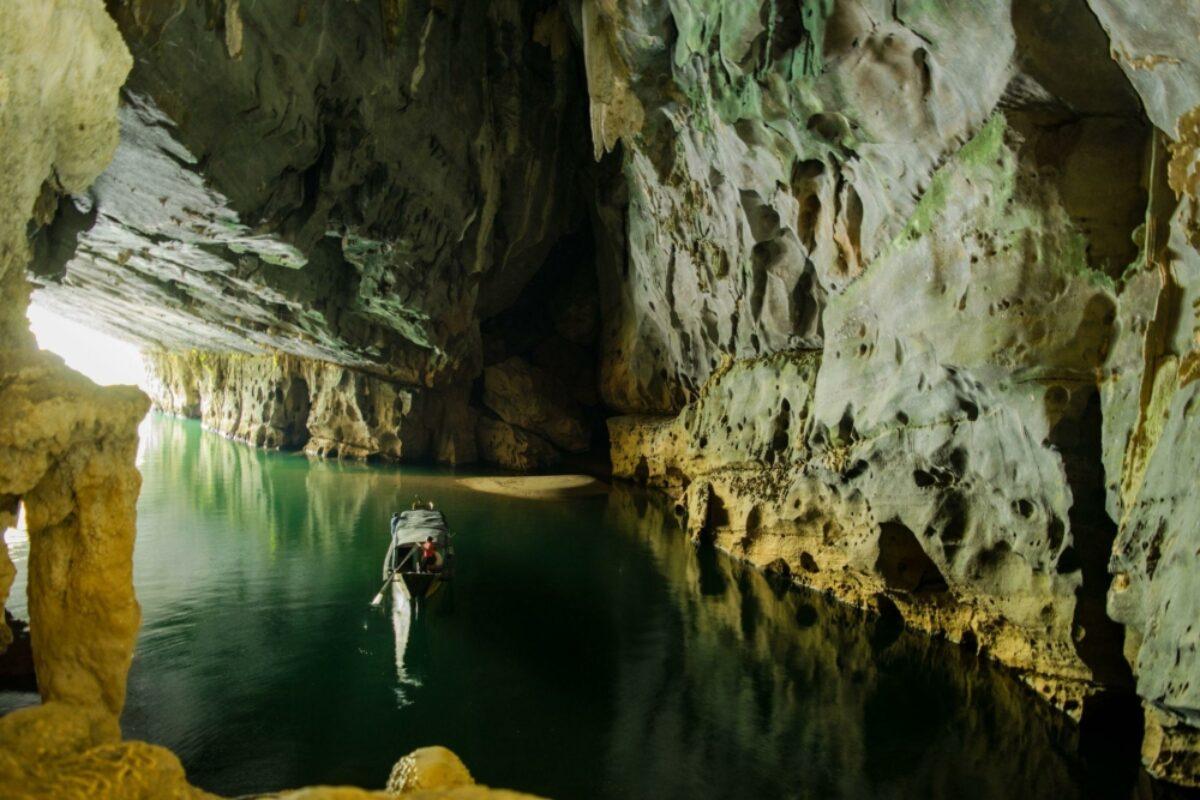 Mouth of Phong Nha cave Vietnam