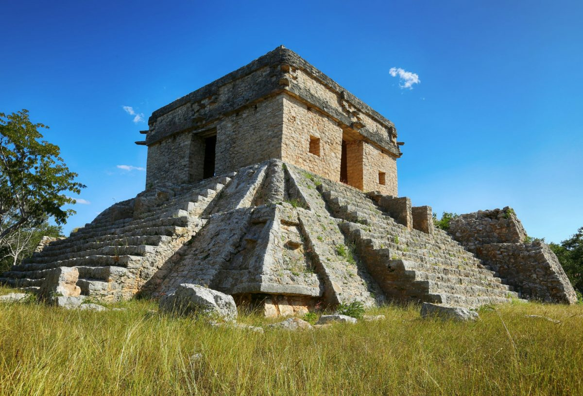 Sun temple Dzibilchaltún mexico