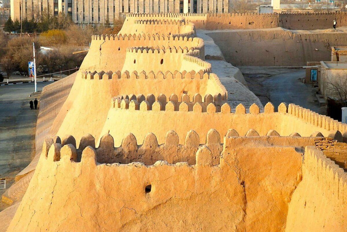 Uzbekistan khiva city walls