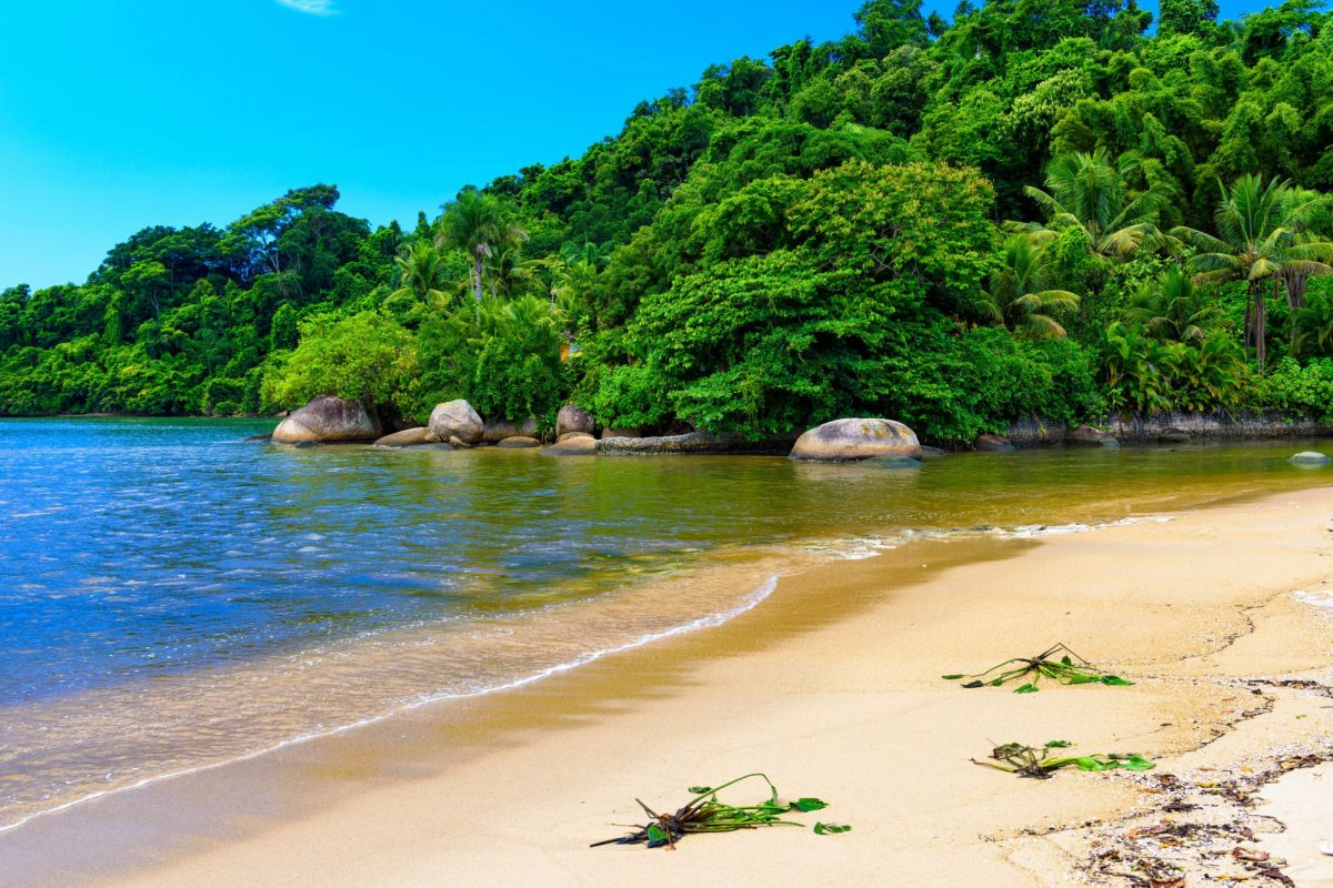 Brazil Paraty Jabaquara beach in Paraty