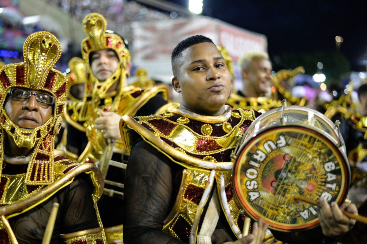 Brazil Rio Samba School perform at Marques de Sapucai known as Sambodromo