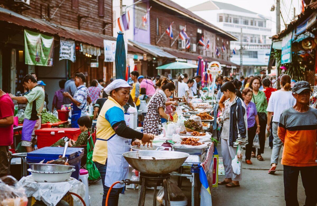 Uthaithani THAILAND street market