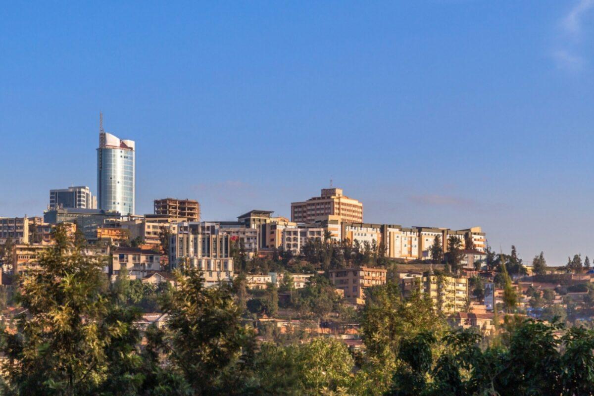 Rwanda Kigali Rwandan capital downtown ladscape